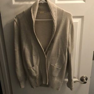 Knit button down cardigan sweater